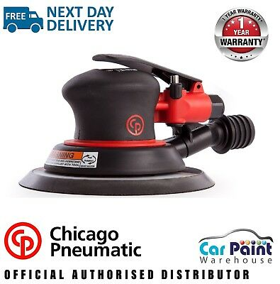 Hook and Loop Pad 6-Inch Random Orbital Palm Sander Chicago Pneumatic CP7255CVE 3//16-Inch Orbit