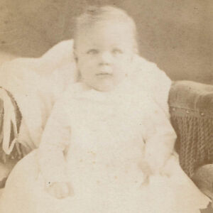 Details About 1867 Antique Carte De Visite Cdv Discombobulated Baby Girl Soothing Syrup