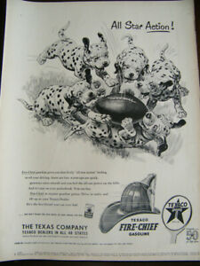 1952 TEXACO FIRE CHIEF AD WITH DALMATIONS