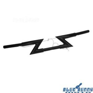 Matte-Black-Motorcycle-1-034-25mm-Z-Bars-Handlebars-For-Harley-Honda-Suzuki-Yamaha