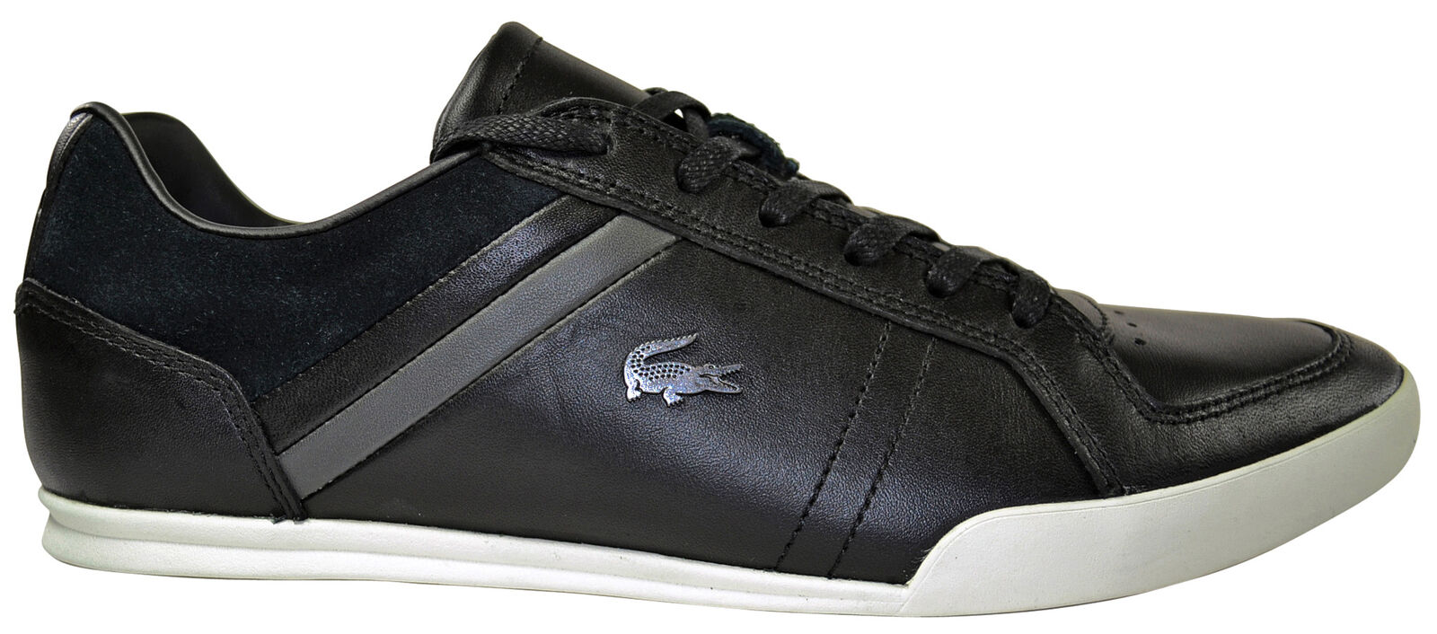 Lacoste Figuera black/dark grey leather Schuhe/Sneaker schwarz