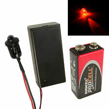 Flashing Red Dummy Fake Alarm LED Enclosed PP3 Holder + Battery, Car, Boat Kit