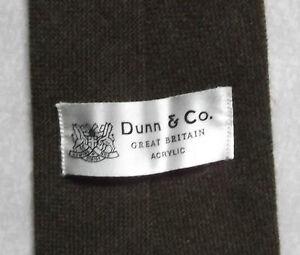 Consciencieux Vintage Cravate Dunn & Co Homme Cravate Rétro Fashion Marron Foncé-afficher Le Titre D'origine