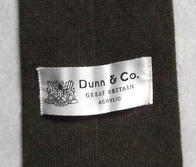 Originale Vintage Cravatta Dunn & Co Da Uomo Cravatta Moda Retrò Marrone Scuro-mostra Il Titolo Originale