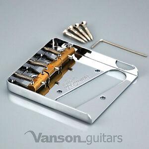 NEW-Wilkinson-Chrome-WTB-Ashtray-Bridge-for-Tele-guitars-with-Brass-Saddles