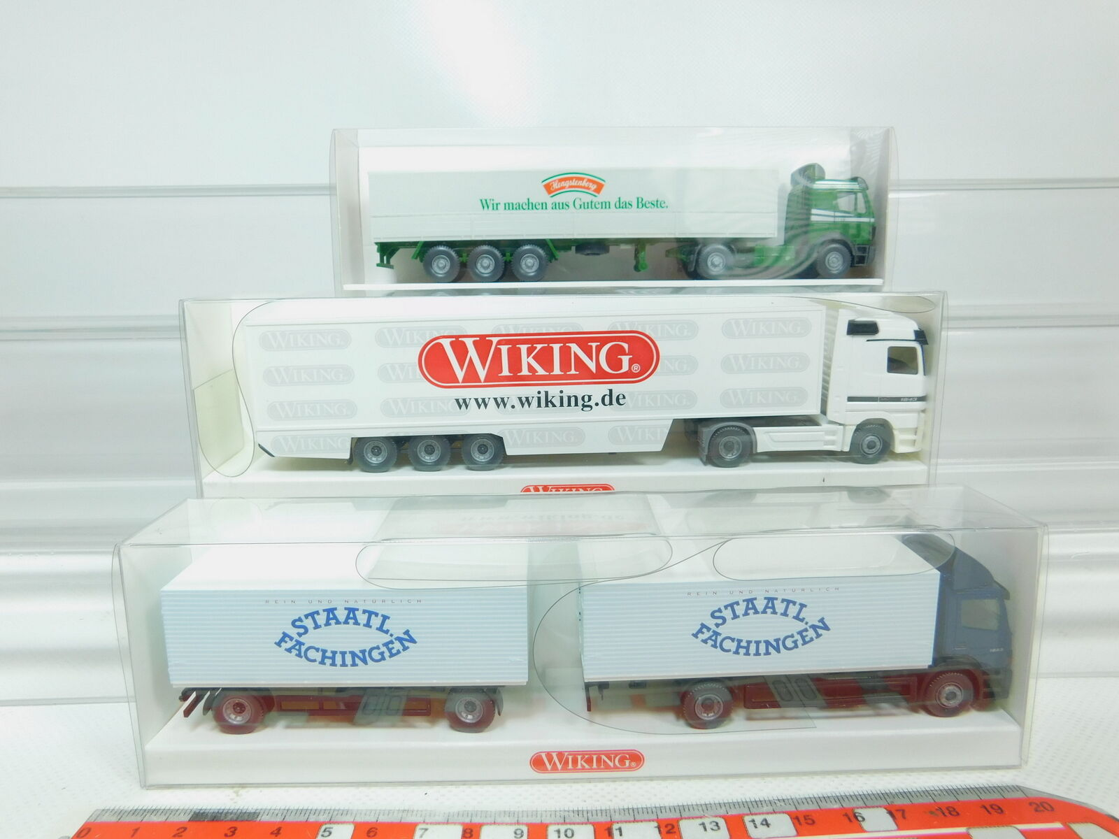 BN37-0,5x Wiking H0 1 87 LKW Mercedes MB  511 + 538 + 561, NEUW+OVP
