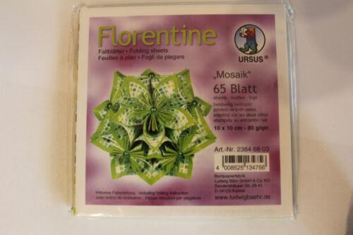 Dépliants florentine mosaïque 03; 65 feuilles 10 10 cm 80 g//qm