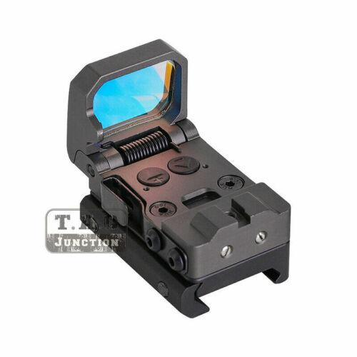 Tactical RMT Flip Folding FlipDot Reflex Pistol Red Dot Sight 3 MOA Picatinny