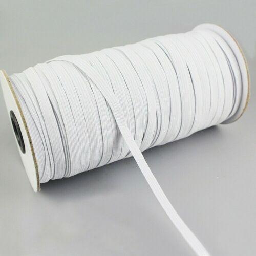 100 Yards Length  DIY Braided Elastic Band Cord Knit Band Sewing 1//8 1//4 inch