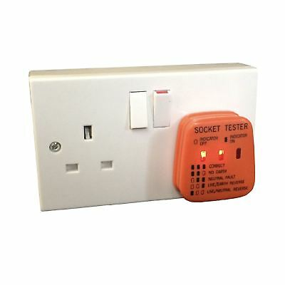 Mains Socket Tester 240v Polarity Test Plug Electrical ... on