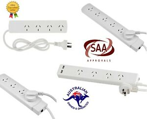 4-6-Way-Socket-Outlet-Surge-Protector-PowerBoard-PowerPoint-Lead-USB-Port-Cord