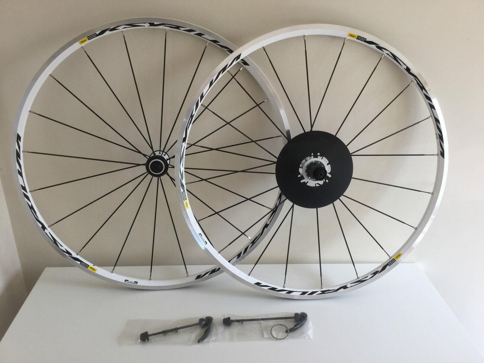 Mavic Ksyrium Equipe White Road Bike Wheelset 700C F V Shimano Sram 11Speed W QR