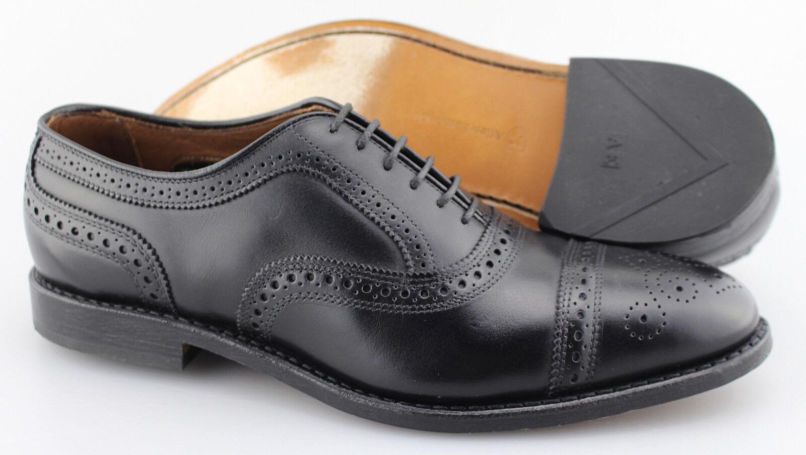 Gli uomini  sono ALGEN EDMONDS'Strand 'nero Leather Cap Toe Oxfords Dimensione US 9 - D  vendita online