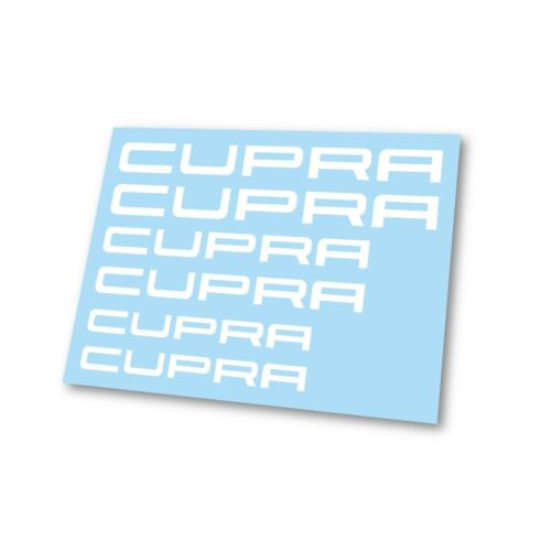 x6 Seat Cupra Ibiza Leon Logo Badge Hi Temp Brake Caliper Stickers Decals