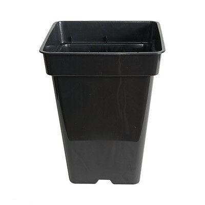 Maceta cuadrada negra de cultivo - 23x23x27,5cm (11L)