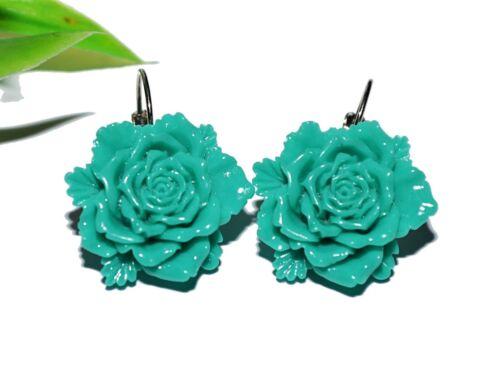 selección brisur Blume XL plata resin aretes Flower multicolor Flores ohrhänger
