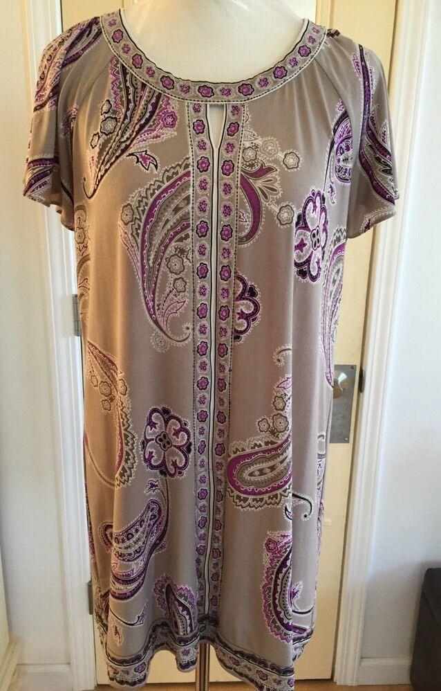 Alfani Dress MOD Pull-Over ALL STRETCH Dress, Fit Size PLarge