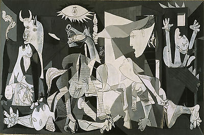 Guernica Pablo Picasso POSTER FRAMED ON CANVAS & MOUNTED