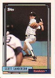 Scott Sanderson Yankees 1992 Topps #480