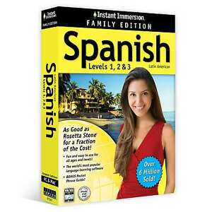 NEW-Instant-Immersion-Spanish-1-2-3-Language-PC-or-Mac