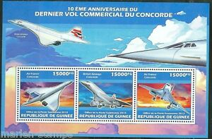 GUINEA-2013-10th-ANNIVERSARY-OF-THE-LAST-CONCORDE-FLIGHT-SHEET-MINT-NH