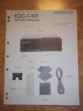 Kenwood Service Manual~KDC-C401 CD Changer/Player~Car Audio~Original Repair