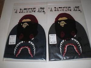 Authentic A Bathing APE BAPE SHARK KNIT CAP BEANIE BLACK NAVY NEW ... c1533a61eed