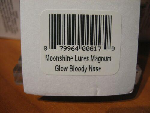 "Glow Bloody Nose Moonshine Lures 4 1//2/"" Magnum Salmon Trolling Spoon"