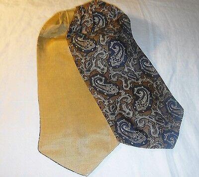 * Qualità Vintage Smart Biadesivo Cravatta Tinta Unita Oro O/s Blu Brrown Paisly O/s-mostra Il Titolo Originale Alta Qualità