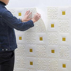 10pcs 3D Self-adhesive Tile Brick Wall Sticker Waterproof Foam Panel Wallpaper