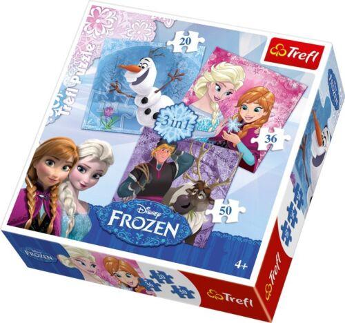 Frozen Puzzle 3 in 1 Set für Kinder Elsa Anna Olaf 20-50 Teile Kinderpuzzle