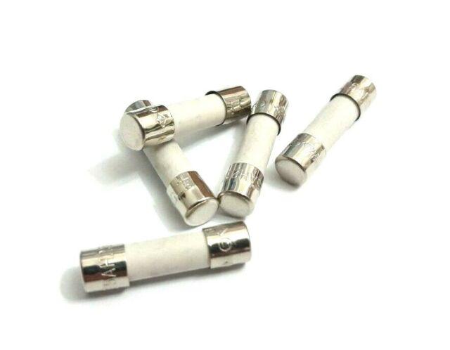 SLOW BLOW 5 Amp CERAMIC FUSE T 5AH 250V 20mm x 5mm Time-Delay T5AH250V