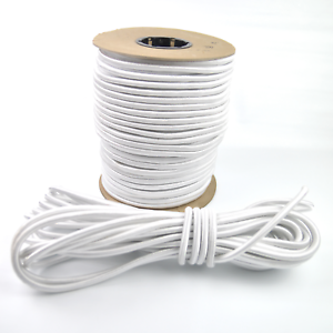 """3//8/"""" White Shock Cord Marine Grade Bungee Heavy Duty Tie Down Stretch Rope Band"""