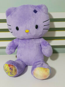 PURPLE-HELLO-KITTY-BUILD-A-BEAR-45CM-SANRIO-CHARACTER-TOY-LOVE-ON-FOOT