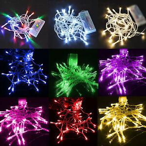 LED Lichterkette 100 LED´s Weihnachtslichterkette Kette 10m Rot Außen Innen