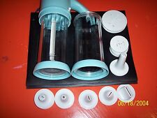 Prepology Battery Operated Cookie Press, tips, plates and 2nd tube.