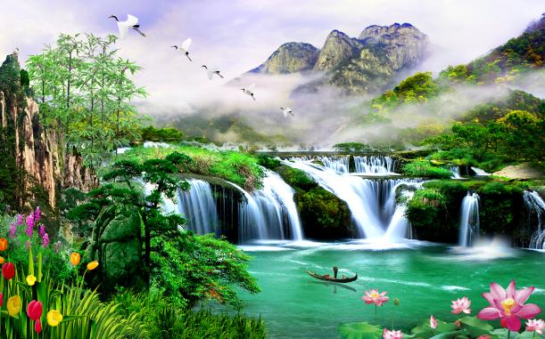 3D Wunderland 842 Tapete Wandgemälde Wandgemälde Wandgemälde Tapete Tapeten Bild Familie DE Summer 6f95e6