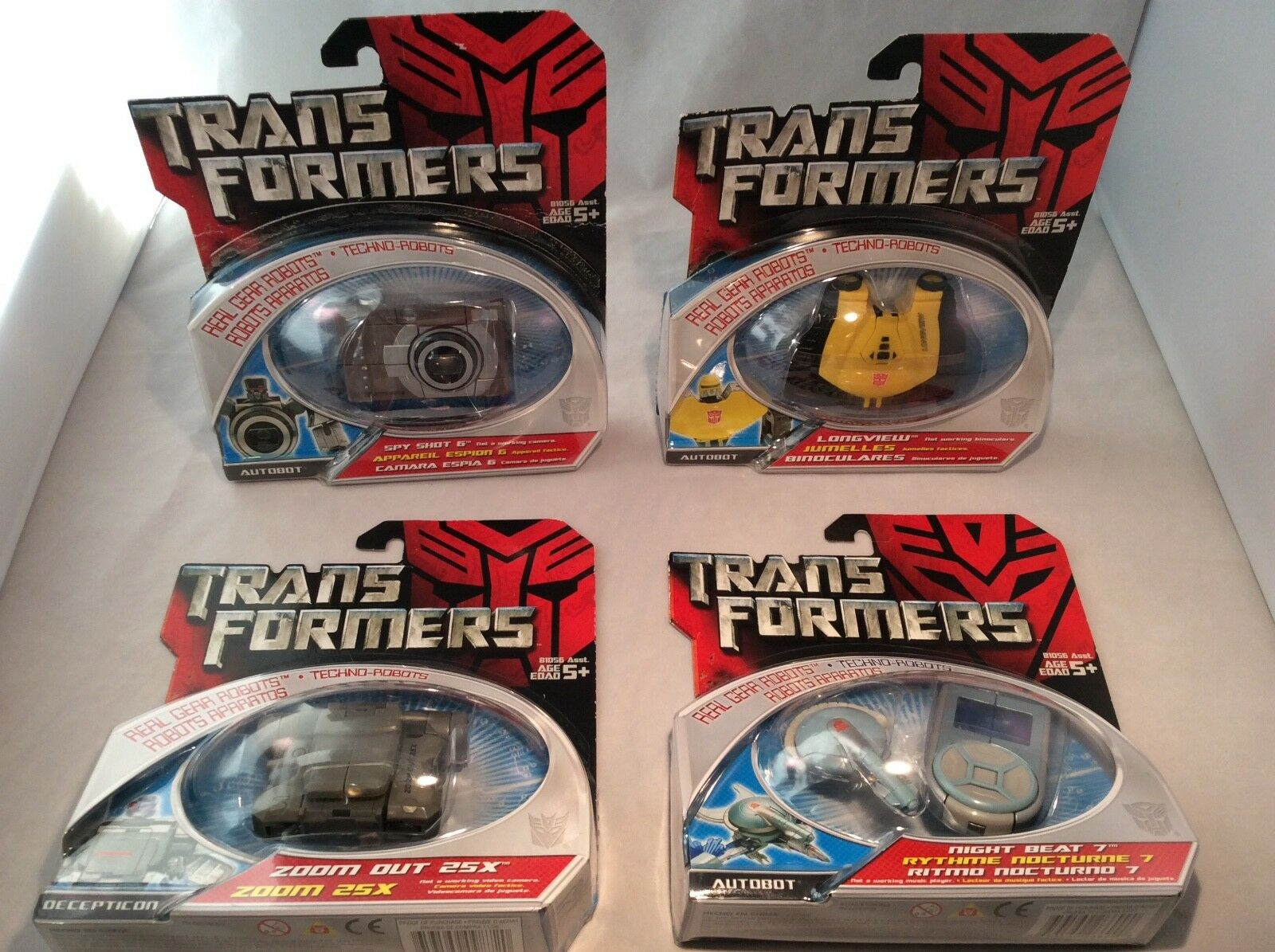 Transformers REAL GEAR ROBOTS Techno-bots lot of 4 2006 2007