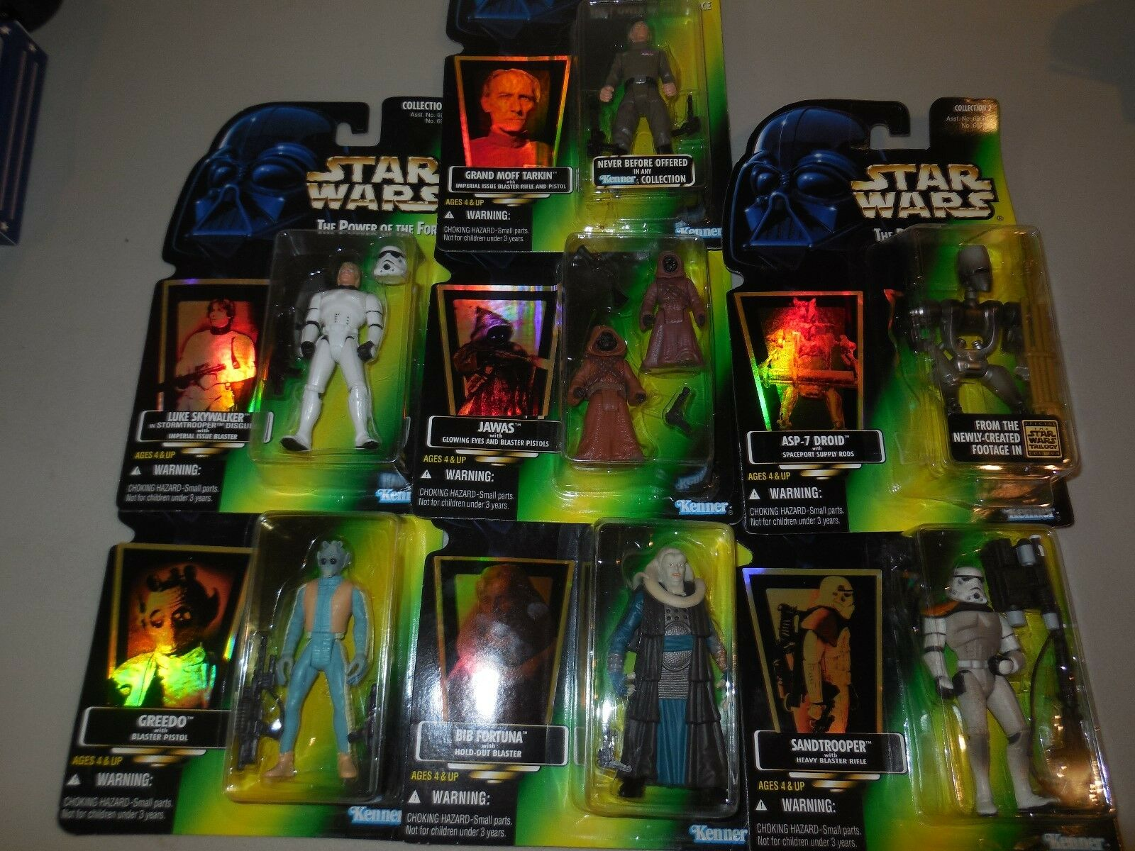 7,1996,hasbros Star Wars-figurer Jawas-Greedo-sandtrooper-
