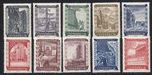 Osterreich-Austria-858-867-Osterr-Wiederaufbau-Fonds-1948-Satz-postfrisch