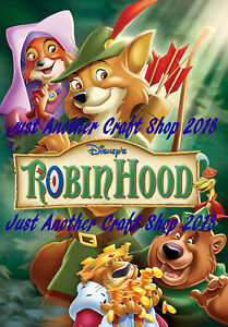 Walt Disney Robin Hood 1973 Movie Poster A3 Large Size Magnificent