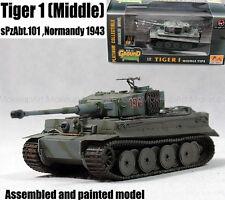 WWII German Tiger I tank middle sPzAbt 101 Normandy 1943 1/72 finish Easy model