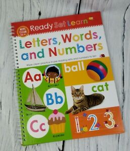 Ready Set Learn Book Letters Words Numbers Wipe Clean Activity Book Ages 4 9781789471854 Ebay