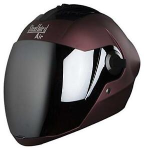 motor-cycle-Steelbird-Air-SBA-2-Full-Face-Helmet-with-Visor-Matt-Maroon-Silver