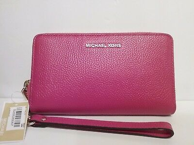 81eb695a3f31 MICHAEL KORS Wallet-Multi-Function Phone Case Leather Ultra PINK Wristlets- NWT