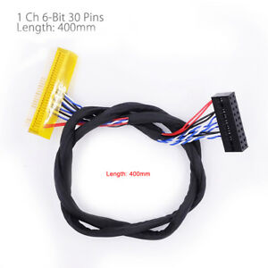 FIX-30Pin-2ch-6bit-LVDS-Cable-for-15inch-19inch-LCD-Panel-6-Bits-26cm-260mm-C3N8