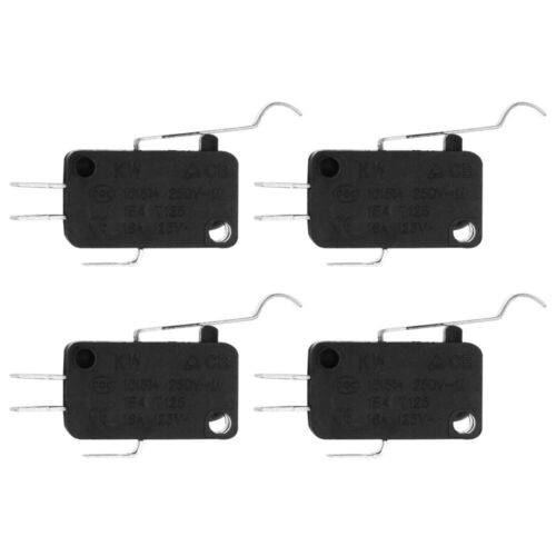 10 Pcs Limit Switch Long Hinge Lever 3 Pins Waterproof Micro Switch for Office