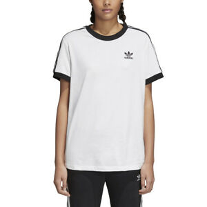 huge selection of e85ca 947f3 Image is loading Adidas-Originals-3-Stripes-Women-039-s-T-Shirt-