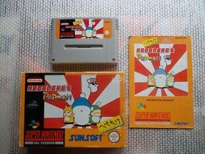 Jeu-Super-Nintendo-Snes-Game-Hebereke-039-s-Popoon-Complet-PAL-ukv-CIB