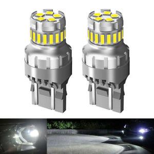 2X W21/5W 580 T20 6500K White DRL 7443 582 Bulbs 12V LED Reverse Light Backup